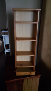 Hanging/ Standing shelves with drawer