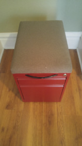 File Cabinet with Padded Seat $ 50 OBO