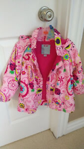 Pink Flower Coat, Toddler Girl 2T - 3T