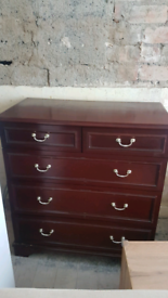 Stag drawers and bedside tables