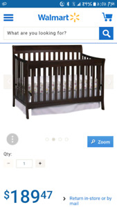 Matching Convertible Sleigh Crib and Change Table set