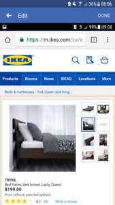 QUEEN BED FRAME AND MATTERS