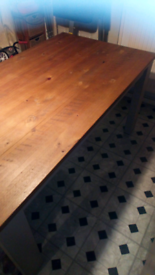 Modern Farmhouse style large extendable table.