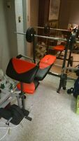 Workout Bench With Weights. - Pickup Only