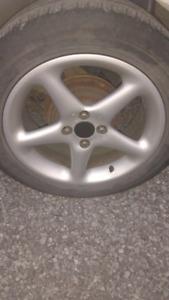 "16"" 4x100 wheels fits Honda, VW, etc..."