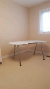 Ikea white glass table/desk