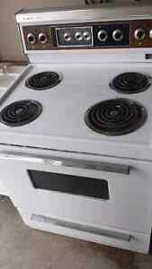 Old stove with self clean option