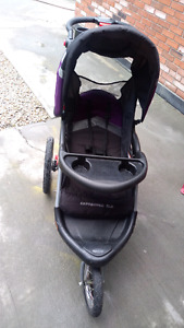 Baby trend Expedition ELX jogging stroller with speakers.