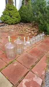 Glass carboy jugs for wine making