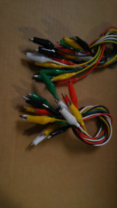 eBoot 30 Pieces Test Leads with Alligator Clips Set Insulated Te