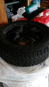 Firestone snow tires and rims 225 55 17 $350