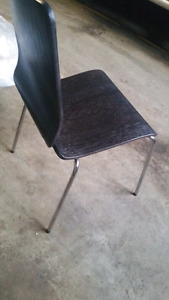4 -Wood and chrome chairs-great condition- Ikea