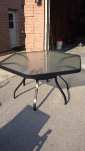 Hexagonal patio table - 60""
