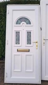 db9bcf3d8d3e uPVC Double Glazed Front Door White with Key
