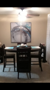 Moving out sale. 5 piece Dalton counter height dining set.
