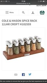 Cole and Mason spice rack