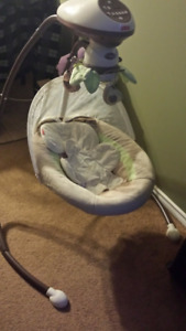 Fisher price snug-a- bunny cradle and swing for sale