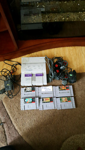 Working super nintendo and games