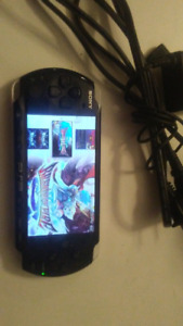 Hacked psp 3001 with 32gb card