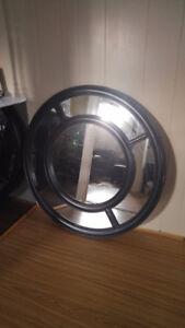 Black  Wall Mirror -- 36' diameter