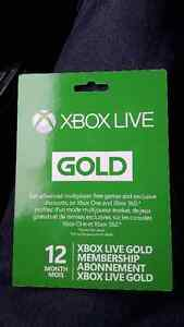 12 month xbox live and new in box controller