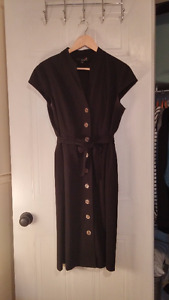 Black Safari Dress- Great Condition