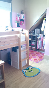Canwood Pine Loft Bed & Mattress