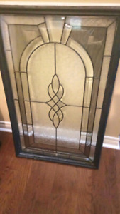 Front door stained glass insert