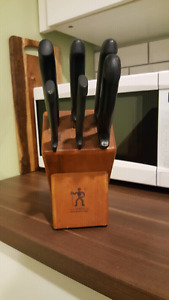 Knife Block with Knives
