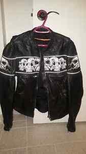 Manteau cuir de moto