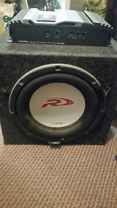 Alpine Sub and Amp- $125