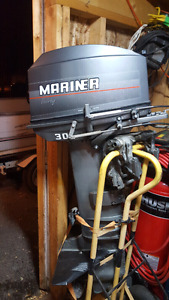 30hp Mariner with steering and controls...