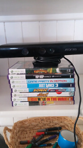 Xbox 360 Kinect with 8 games