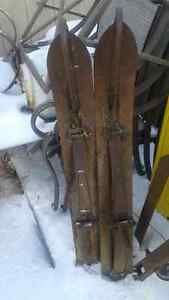 pair of snowmobile skiis great for building sled/ skiboose etc