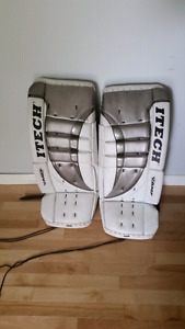 Goalie pads and blockers and trappers