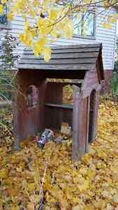 Kids outdoor wooden playhouse London Ontario image 2