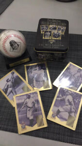 Replica Babe Ruth Signed baseball and gold hall of fame cards