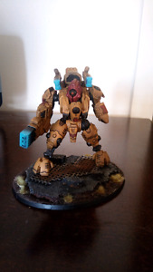 Pro Painted Tau Ghostkeel with extensive backstory 40k warhammer