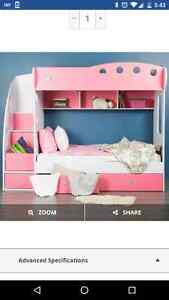 Pink bunk bed. Great condition