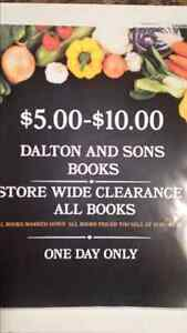 DALTON AND SONS Clearance Sale:SATURDAY OCT.29 ONLY