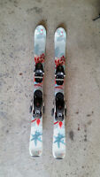 Rossignol fun girl downhill skis 100cm with poles