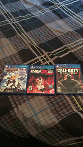 3 PS4 Games - Black Ops 3, NBA 2K16, Ratchet and Clank.