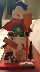 Christmas Wooden Snowman Decoration