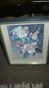 VINTAGE BEAUTIFUL 3D HAND CAST PAPER ART FLORAL SHADOW BOX Kitchener / Waterloo Kitchener Area image 2