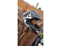 Childs full face bmx / cycle helmet