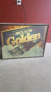 MOLSON GOLDEN BAR SIGN