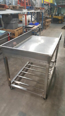 Stainless Steel Table On Wheels 5 Long 35deep 43 High Equi5