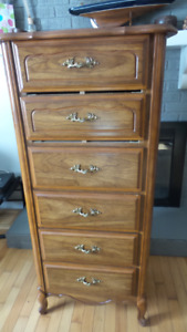 2x Tall Boy's, Lady's Dresser & End Tables (5 Pieces)