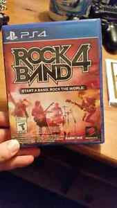 Unopened copy of rock band 4 for ps4
