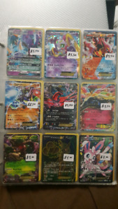Pokemon EX/GX/Full Art Cards (Prices are marked)